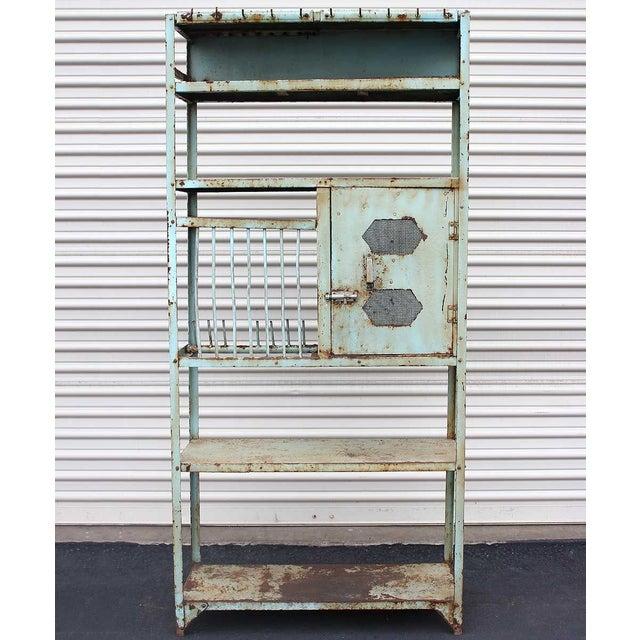 Image of Vintage Turquoise Iron Rack