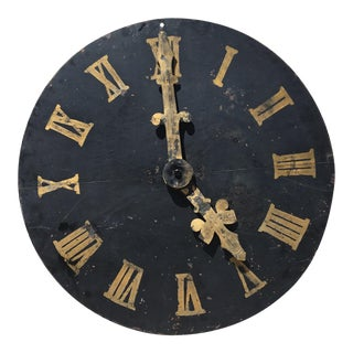 Antique Decorative Metal Clock Face
