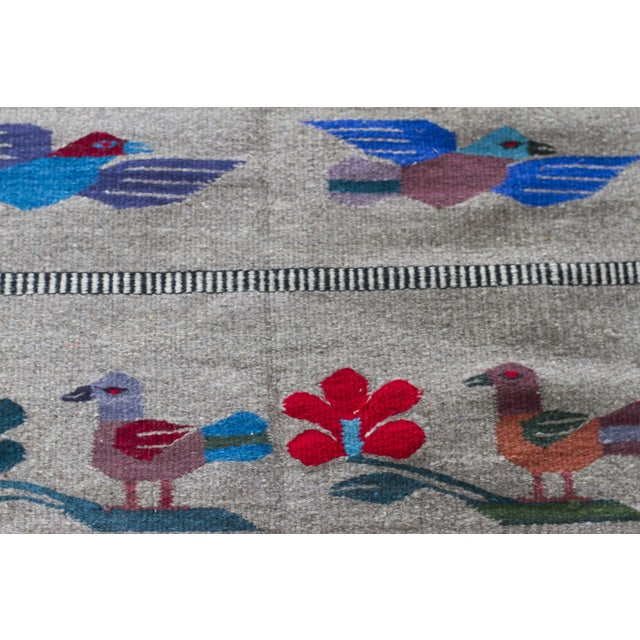 """Mexican Gray Wool Rug - 2'6"""" X 4'11"""" - Image 4 of 7"""