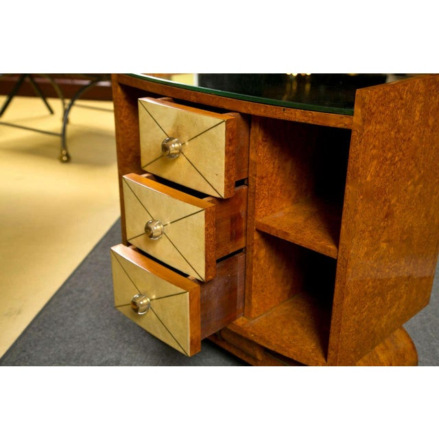 Image of Art Deco Style Nighstands Tables - A Pair