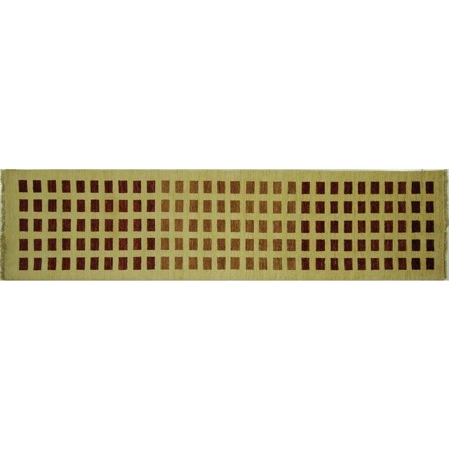 Ivory Checkered Kashkuli Gabbeh Runner - 3'x10' - Image 1 of 9