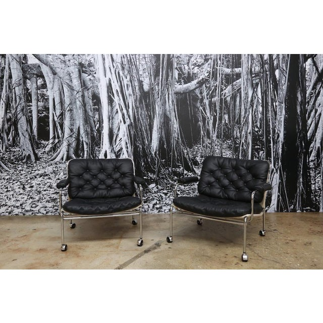 Pethrus Lindlöf Eva Lounge Chairs - A Pair - Image 2 of 7