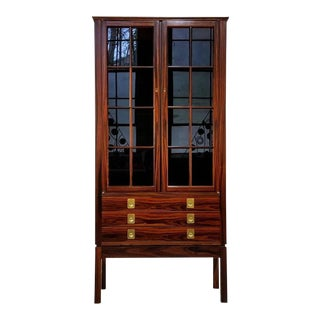 Torbjørn Afdal Rosewood Lighted Curio Cabinet