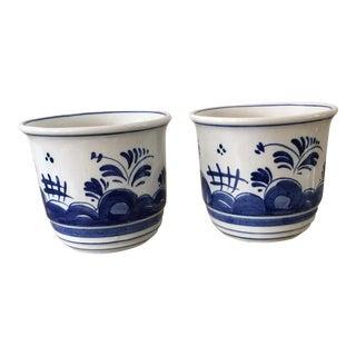 Delft Ceramic Mugs - A Pair, 1970s