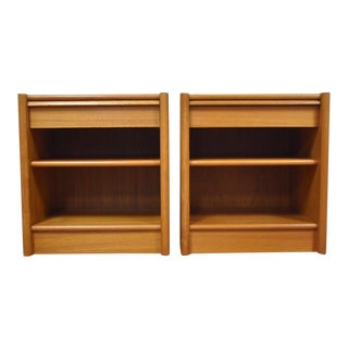 Danish Teak Nightstands- a Pair