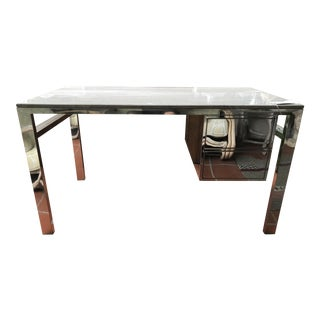 HD Buttercup Modern Travertine & Chrome Desk