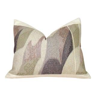 Vintage Handwoven Japanese Raw Silk Obi Pillow Cover