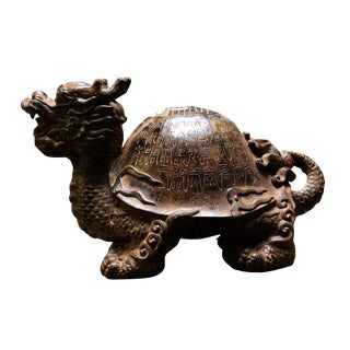 Chinese Dragon Turtle Figure