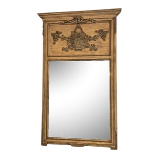 French Paint Decorated Trumeau Mirror
