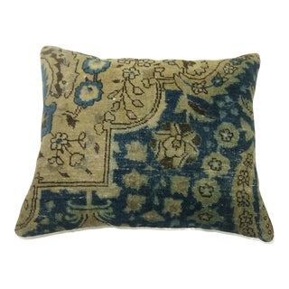Blue Persian Antique Rug Pillow