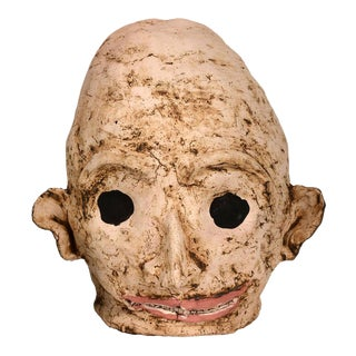 Large Ceramic Alien Head in Flesh Tones