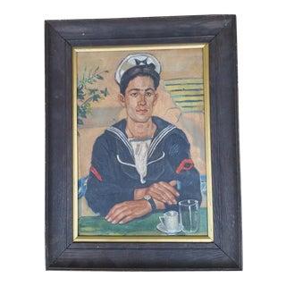 Vintage Sailor Painting