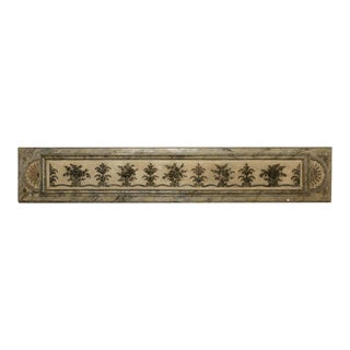 Antique Italian Long Narrow Hand Carved Wood Architectural Piece