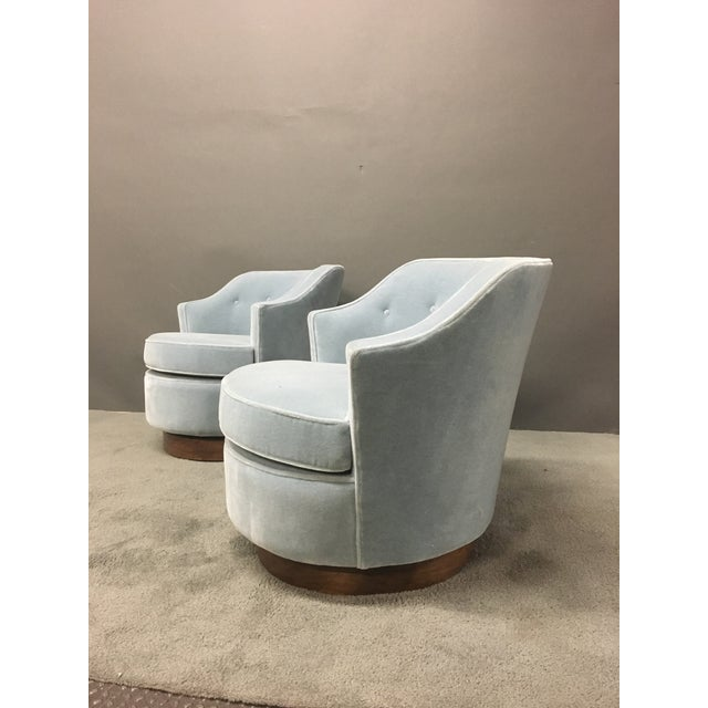 Mid-Century Modern Mohair Chairs - A Pair - Image 7 of 10