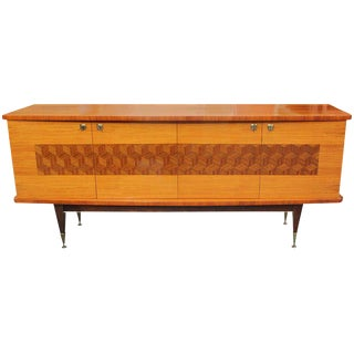 French Art Deco Palisander Marquetry Sideboard