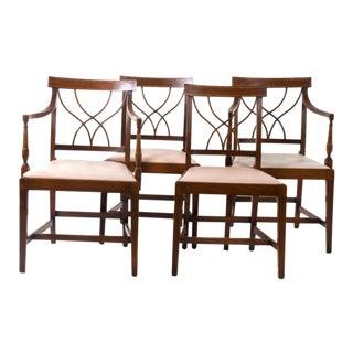 Mahagony Dining Chairs - Set of 4