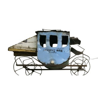 Rustic Stage Coach Repurposed Metal on Wheels