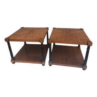 John Stuart Hollywood Regency Louis XVI French Side Tables - A Pair