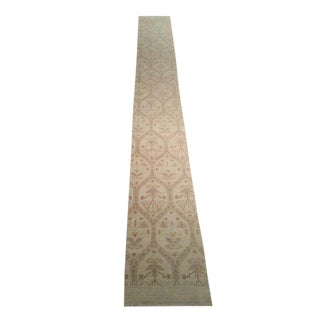 Modern Contemporary Hand Made Knotted Runner Rug - 1′9″ × 14′5″