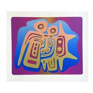 Wind God by Nancy Koren, Modernist Serigraph