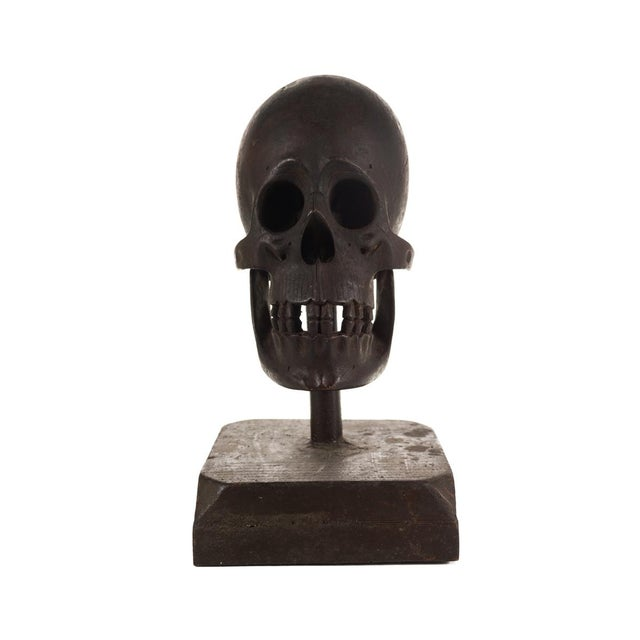 19th Century Hand Carved Wooden Skull - Image 2 of 9