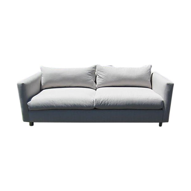 Mid-Century Modern Canvas Sofa - Image 1 of 8