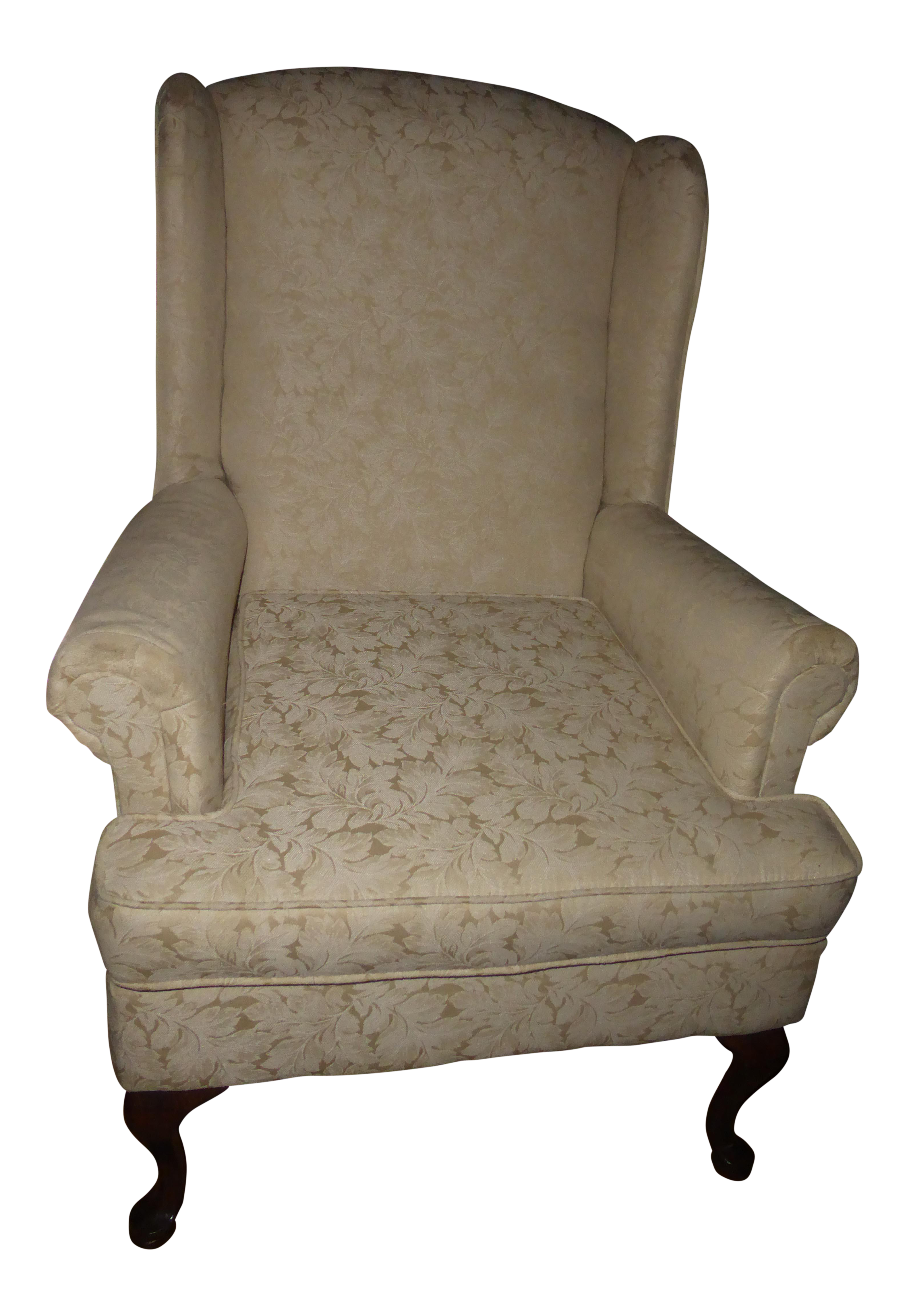 vintage french country wingback chair