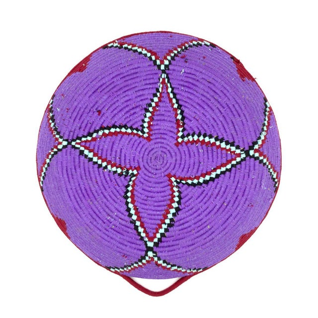 Purple and Red Moroccan Wool Tray - Image 7 of 8
