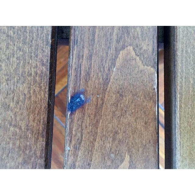 Mid-Century Modern Walnut Slat Bench - Image 7 of 7