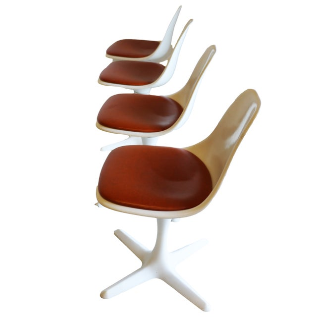 Image of Mid-Century Modern Burke Tulip Chairs - Set of 4