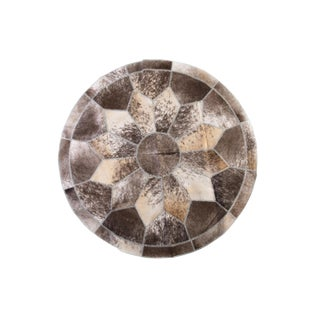 Gray & Brown Cowhide Patchwork Area Rug - 5'10""