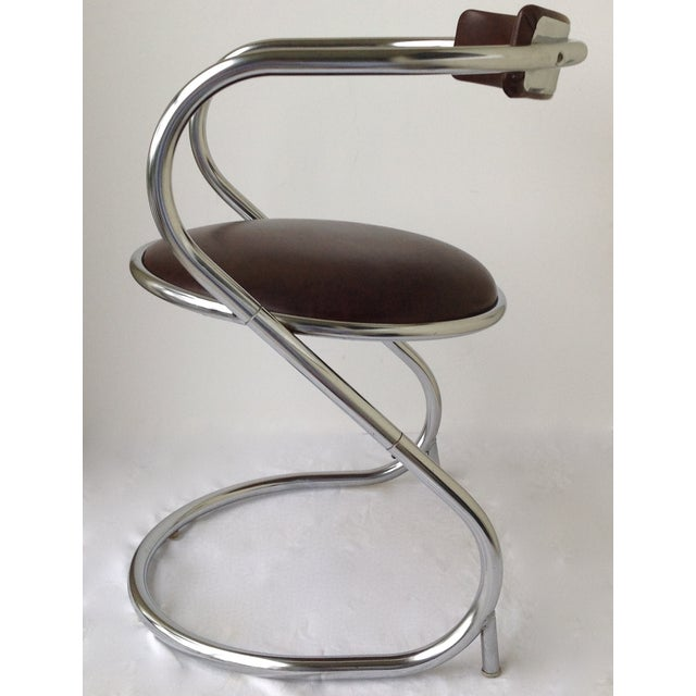 Image Of Mid Century Chrome Cantilever Office Chair