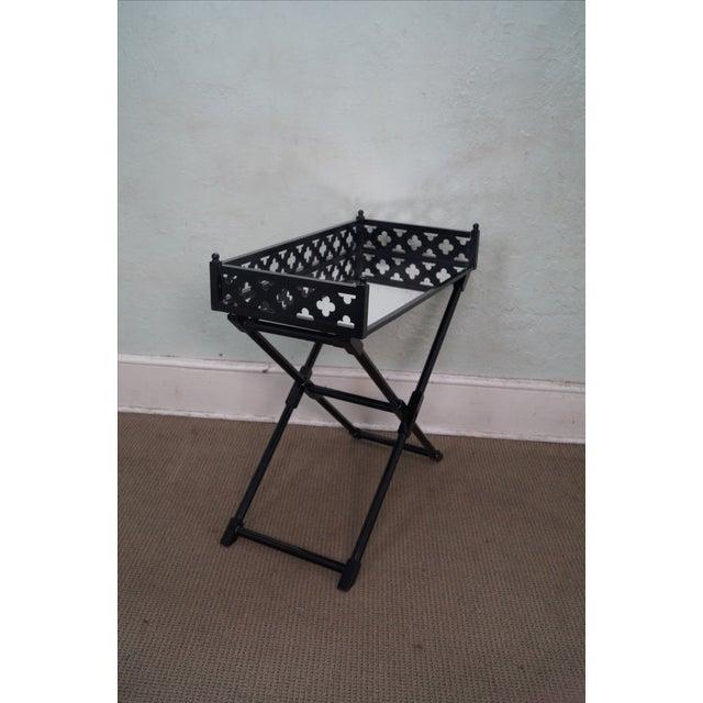 Tables Buy: Ebonized Folding Tray Top Serving Table