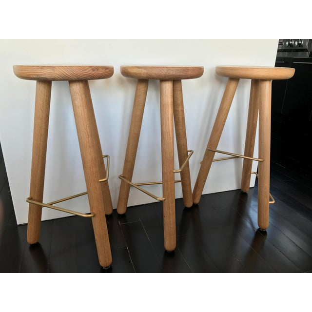Another Country Oak Counter Stools - Set of 3 - Image 2 of 4