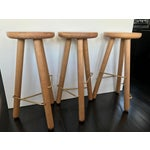 Image of Another Country Oak Bar Stools - Set of 3