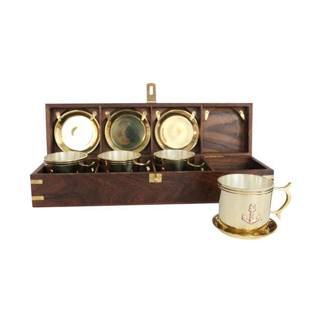 Image of Nautical Captain's Cup and Saucer Box Set