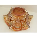 Image of Imperial Glass Co. Marigold Ruffled Glass Bowl