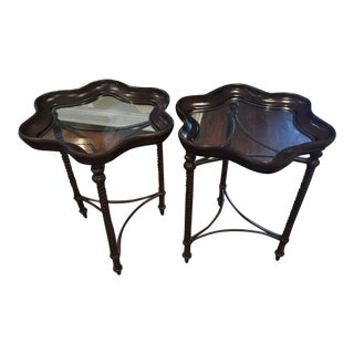 Metal & Resin Accent Tables - A Pair