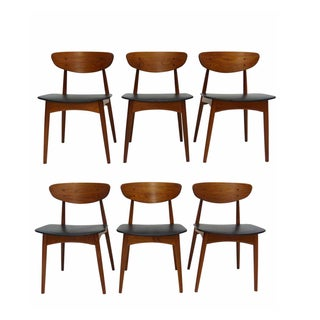 Danish Teak Dining Chairs - Set of 6