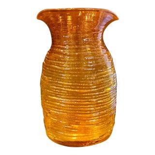 Blenko Mid-Century Modern Orange Glass Pitcher