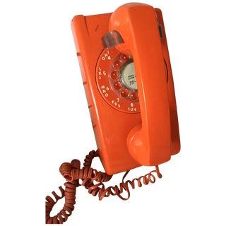 Vintage Orange Wall Phone