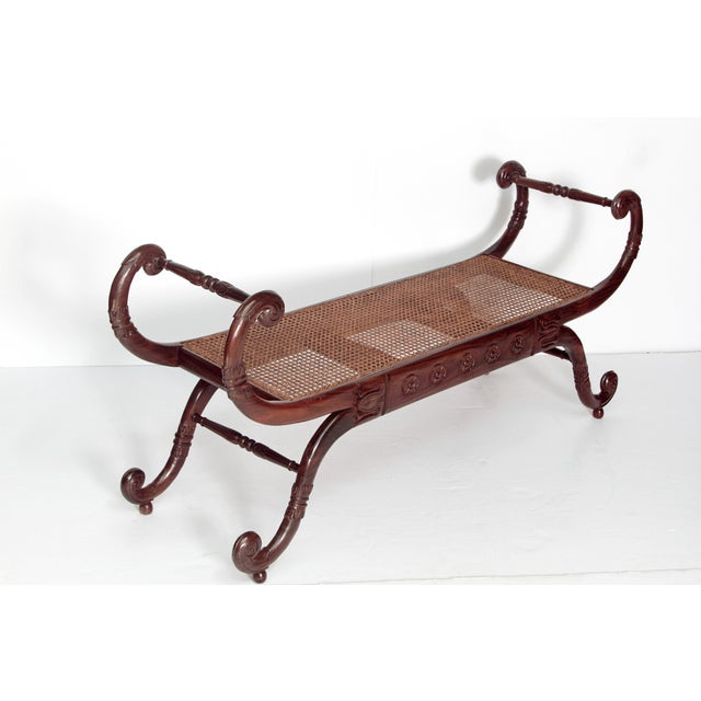 Group of Four English Style Carved Walnut Benches - Image 3 of 11