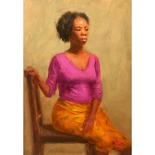 Oil Alla Prima Painting of African-American Woman