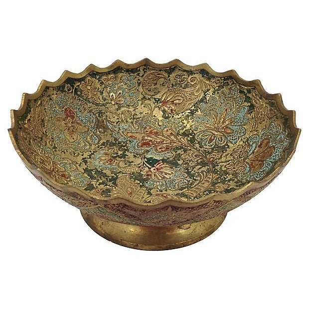 Indian Brass Polychrome Bowls - A Pair - Image 3 of 7