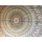 Image of Finely Knotted Silk Qom Carpet - 7′10″ × 11′4″