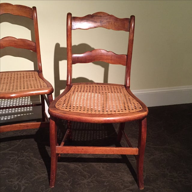 Antique Tiger Maple Chairs - Image 3 of 6