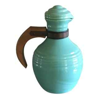 1930s Turquoise Pacific Pottery Pitcher
