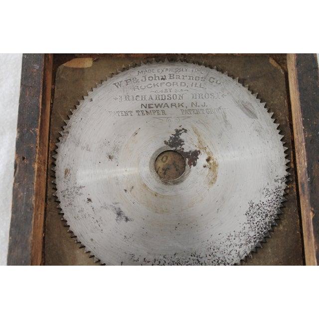 Image of W.F. & John Barnes Co. Framed Saw Blade
