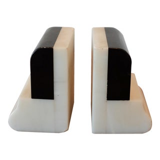 Art Deco Belgian Marble Bookends - A Pair