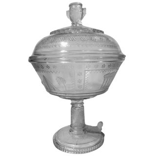 Adams Glass Egyptian Compote